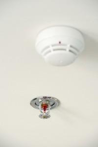 sprinkler system installed in home